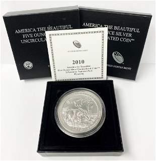 ATB 5 oz. Silver Collector Coin 2010 Wyoming OGP