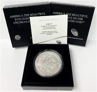 ATB 5 oz. Silver Collector Coin 2017 Indiana OGP