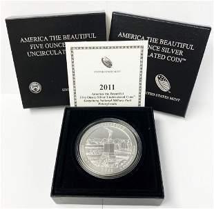 ATB 5 oz. Silver Collector Coin 2011 Pennsylvania OGP