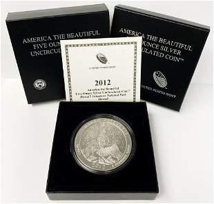 ATB 5 oz. Silver Collector Coin 2012 Hawaii OGP