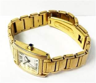 Cartier Tank Watch Golden/Stainless Steel
