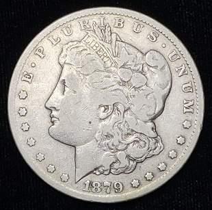 1879-CC Carson City Fine Morgan Silver Dollar