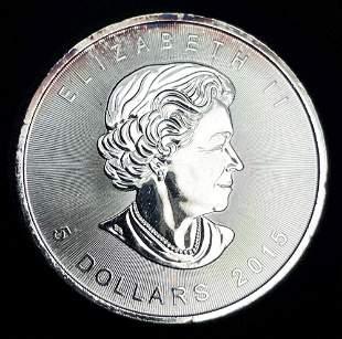 2015 Canada Silver 1 oz Maple Leaf