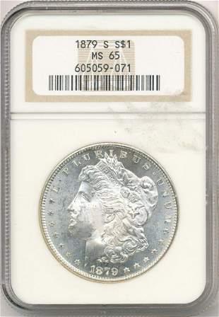 Hot Morgan Silver Dollars! 1879-S NGC MS65