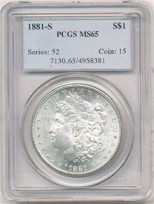 Hot Morgan Silver Dollars! 1881-S PCGS MS65