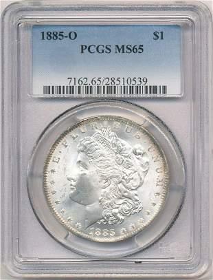 Hot Morgan Silver Dollars! 1885-O PCGS MS65