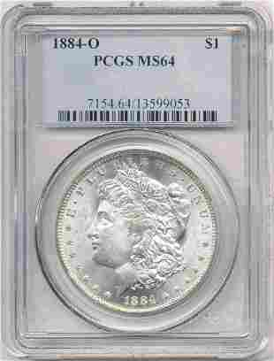 Hot Morgan Silver Dollars! 1884-O PCGS MS64