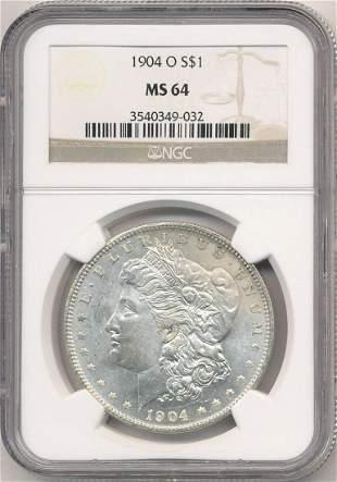 Hot Morgan Silver Dollars! 1904-O NGC MS64