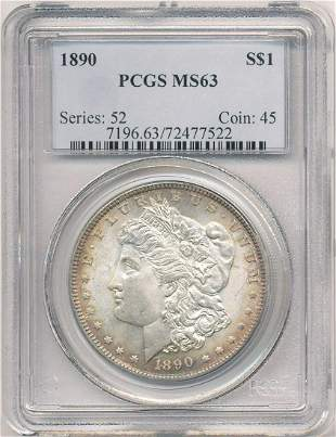 Hot Morgan Silver Dollars! 1890 PCGS MS63