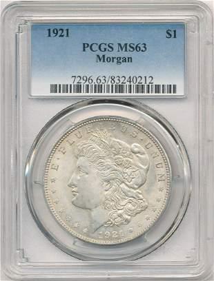 Hot Morgan Silver Dollars! 1921 PCGS MS63