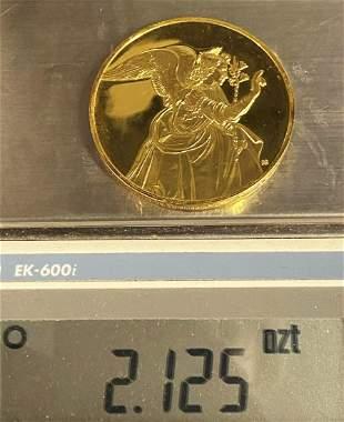 The Archangel Gabriel Huge Sterling Golden Silver Medal