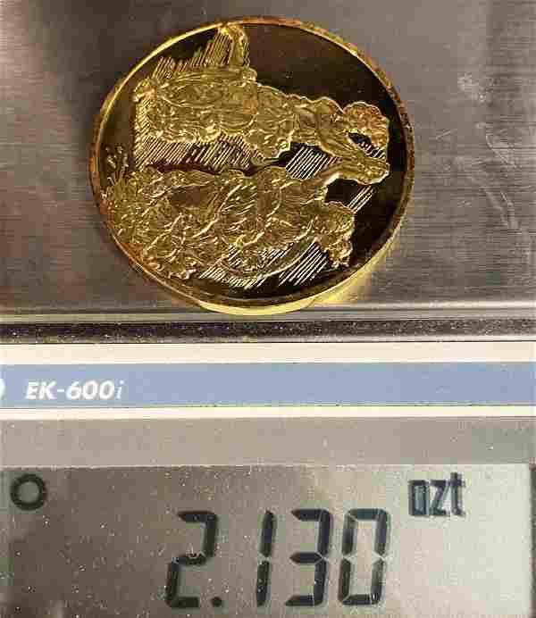 """""""Dancing Maidens"""" Huge Sterling Golden Silver Medal"""