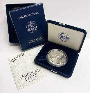 Proof 69 2001 American Silver Eagle OGP