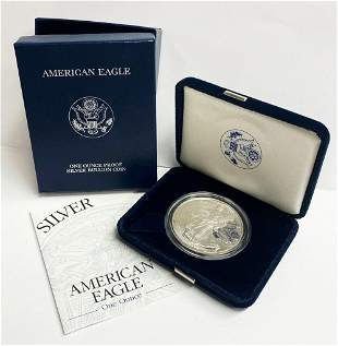 Proof 69 2002 American Silver Eagle OGP