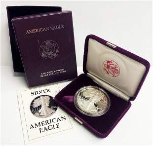 Proof 69 1987 American Silver Eagle OGP