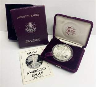 Proof 69 1989 American Silver Eagle OGP