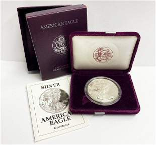 Proof 69 1992 American Silver Eagle OGP