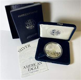 Proof 69 1998 American Silver Eagle OGP