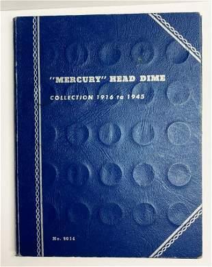 Partial Mercury 90% Silver 10c Set (76 Coins) 1916-1945
