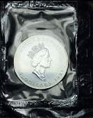 1991 Mint Sealed Canadian Maple Leaf Silver 1 oz .9999