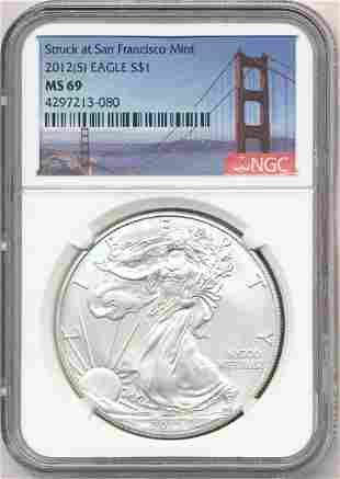 2012-S American Silver Eagle NGC MS69