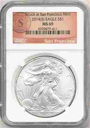 2014-S American Silver Eagle NGC MS69
