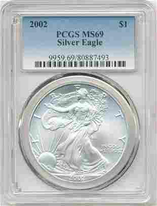 2002 American Silver Eagle PCGS MS69