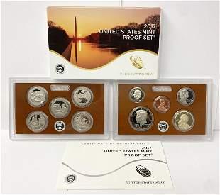 2017 United States Mint 10-Coins Proof Set w/ Box & COA