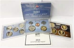 2010 United States Mint 14-Coins Proof Set w/ Box & COA