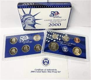 2000 United States Mint 10-Coins Proof Set