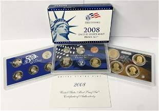 2008 United States Mint 14-Coins Proof Set