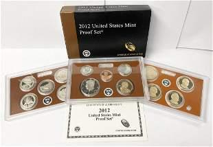 2012 United States Mint 14-Coins Proof Set w/ Box & COA