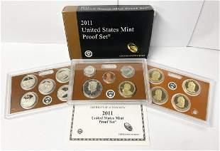 2011 United States Mint 14-Coins Proof Set w/ Box & COA