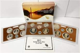 2013 United States Mint 14-Coins Proof Set w/ Box & COA