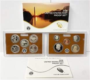 2018 United States Mint 10-Coins Proof Set w/ Box & COA