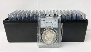 (20) Mixed Date & MM PCGS MS65 Morgan Silver Dollars
