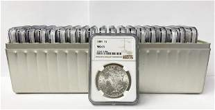 (20) Mixed Date & MM NGC MS65 Morgan Silver Dollars