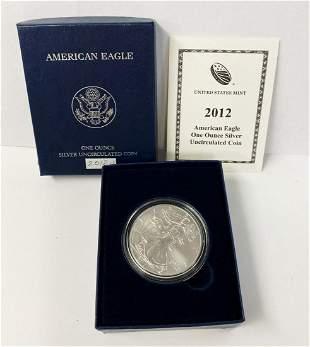 Burnished American Silver Eagle 2012-W