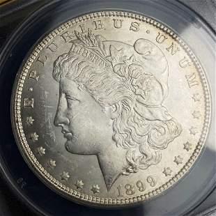 1899 Morgan Silver Dollar ANACS MS63