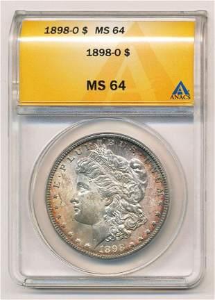 1889-O Morgan Silver Dollar ANACS MS64
