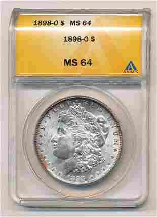 1884 Morgan Silver Dollar ANACS MS64