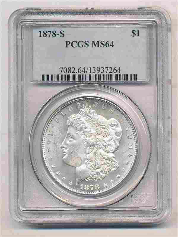 1878-S Morgan Silver Dollar PCGS MS64