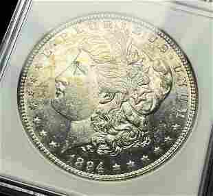 1894-S Morgan Silver Dollar ANACS MS62PL