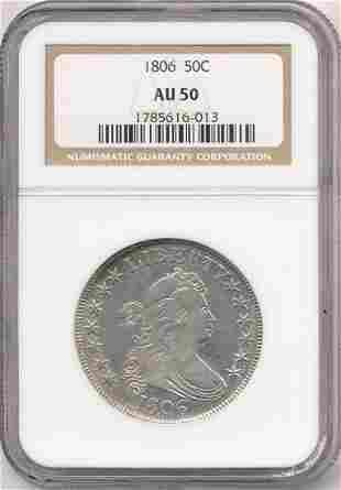 1806 Draped Bust Half Dollar NGC AU50