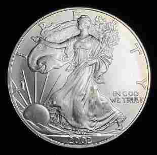 2002 American Silver Eagle MS69