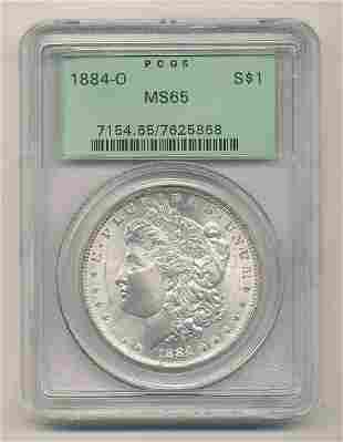 OGH 1884-O PCGS MS65 Morgan Silver Dollar