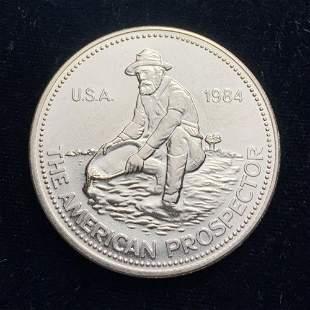 1984 Vintage Englehard Prospector Silver Round
