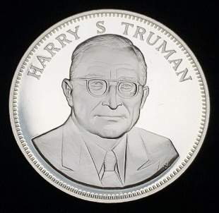 1976 Proof Sterling Silver Medal Harry S. Truman