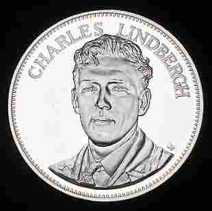 1976 Proof Sterling Silver Medal Charles Lindbergh