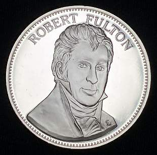 1976 Proof Sterling Silver Medal Robert Fulton